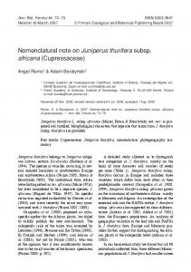 Nomenclatural note on Juniperus thurifera subsp. africana ...