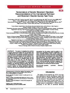 Nomenclature of Genetic Movement Disorders - The Movement ...