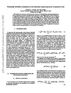 Nominally forbidden transitions in the interband optical spectrum of ...