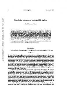 Non-abelian extensions of topological Lie algebras