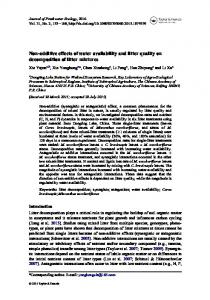Non-additive effects of water availability and litter quality on ...