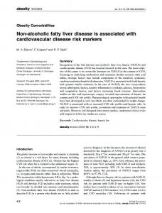 Non-alcoholic fatty liver disease is associated ... - Wiley Online Library