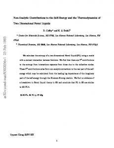 Non-Analytic Contributions to the Self-Energy and the ...