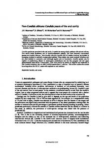 Non-Candida albicans Candida yeasts of the oral cavity - Formatex ...