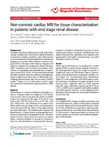 Non-contrast cardiac MRI for tissue characterization in ... - Springer Link