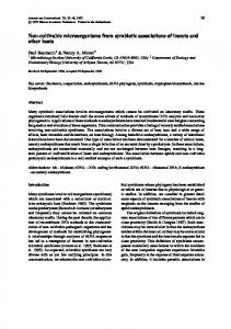 Non-cultivable microorganisms from symbiotic ... - Springer Link