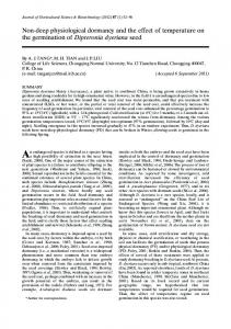 Non-deep physiological dormancy and the effect of temperature on the ...