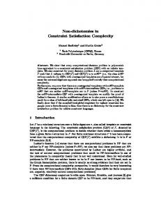 Non-dichotomies in Constraint Satisfaction Complexity - Martin Grohe
