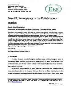 Non-EU immigrants in the Polish labour market - Economic and