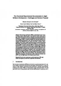 Non-functional Requirements Documentation in Agile Software ... - arXiv