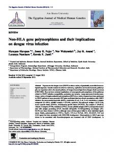 Non-HLA gene polymorphisms and their implications on dengue virus ...