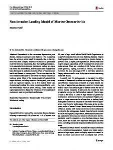 Non-invasive Loading Model of Murine Osteoarthritis - Semantic Scholar