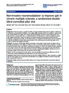 Non-invasive neuromodulation to improve gait in chronic multiple ...
