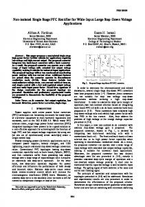 Non-isolated Single Stage PFC Rectifier for Wide-Input Large Step ...
