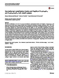 Non-isothermal crystallization kinetics and fragility of