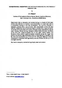 NON-ISOTHERMAL DESORPTION AND ... - Thermal Science