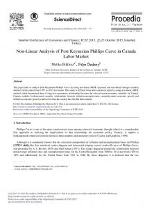 Non-Linear Analysis of Post Keynesian Phillips Curve ... - ScienceDirect