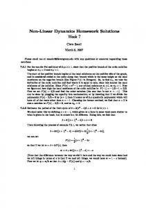 Non-Linear Dynamics Homework Solutions Week 7 - Archives