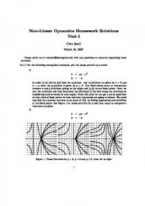 Non-Linear Dynamics Homework Solutions Week 8 - Archives