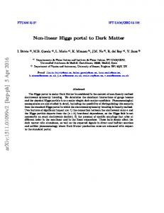 Non-linear Higgs portal to Dark Matter