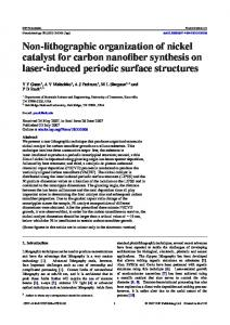 Non-lithographic organization of nickel catalyst for carbon ... - CiteSeerX
