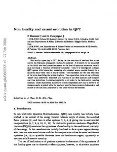 Non locality and causal evolution in QFT