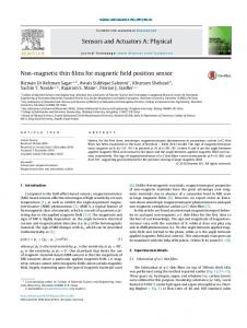 Non-magnetic thin films for magnetic field position ... https://www.researchgate.net/...films/.../Non-magnetic+thin+films+for+magnetic+field...