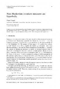 Non-Markovian invariant measures are hyperbolic - ScienceDirect.com
