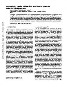 Non-minimally coupled tachyon field with Noether symmetry under the ...