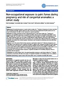 Non-occupational exposure to paint fumes during pregnancy and risk ...