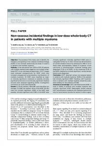 Non-osseous incidental findings in low-dose whole ... - BIR Publications