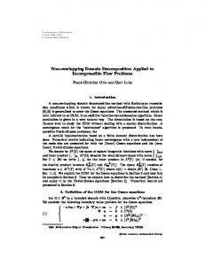 Non-overlapping Domain Decomposition Applied to Incompressible ...