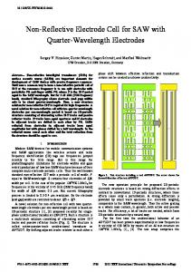 Non-Reflective Electrode Cell for SAW with Quarter ... - IEEE Xplore