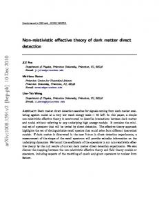 Non-relativistic effective theory of dark matter direct detection