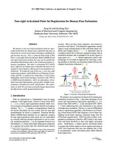 Non-rigid Articulated Point Set Registration for Human ... - IEEE Xplore