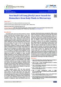 Non Small Cell Lung (Nscl) Cancer Search for ... - Juniper Publishers