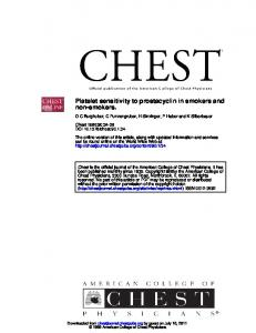 non-smokers. Platelet sensitivity to prostacyclin in