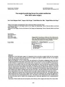 Non surgical predicting factors for patient satisfaction after third molar ...