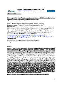 Non-target trials with Pseudomonas fluorescens strain CL145A - reabic
