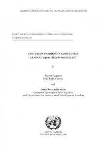 Non-Tariff Barriers in Computable General Equilibrium - Unctad