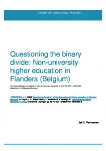 Non-university higher education in Flanders (Belgium)