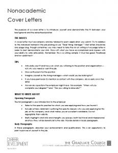 nonacademic cover letters