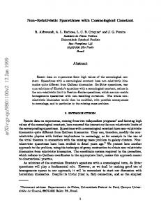 Non–Relativistic Spacetimes with Cosmological Constant