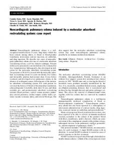 Noncardiogenic pulmonary edema induced by a ... - Springer Link