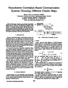 Noncoherent Correlation-Based Communication Systems Choosing