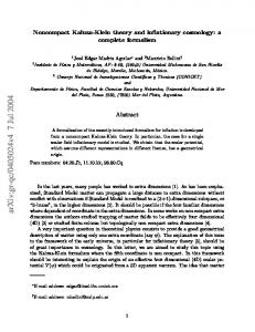 Noncompact Kaluza-Klein theory and inflationary cosmology: a ...