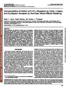 Noncompetitive Inhibition of 5-HT3 Receptors by Citral, Linalool, and ...