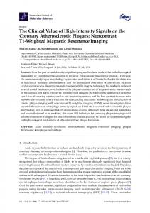 Noncontrast T1-Weighted Magnetic Resonance - Semantic Scholar