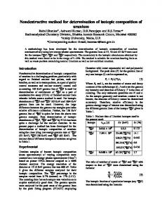 Nondestructive method for determination of isotopic