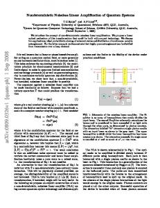 Nondeterministic Noiseless Linear Amplification of Quantum Systems